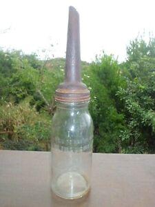 Vintage Motor Oil Bottle And Embossed Mk Spout 1 Liter Ebay