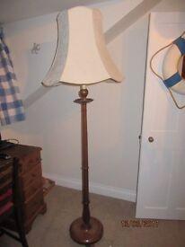 Vintage standard lamp and lamp shade