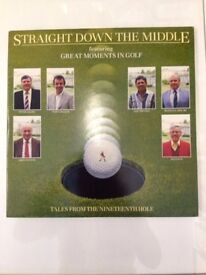 *STRAIGHT DOWN THE MIDDLE* Featuring Great Moments In GOLF 2 x Vinyl LP Records