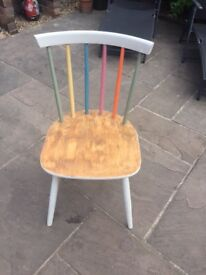 Quirky hipster dining chairs x 4 great condition.
