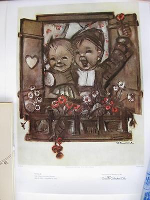 Older Goebel Collectors Club Poster Boy   Girl At Window Unused In Orig Tube