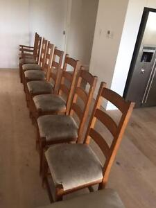A set of 8 wood Dinning Room Chairs Mosman Mosman Area Preview