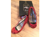 Limited Edition HARRODS RUBY SLIPPERS Wizard of OZ 70th anniversary women's shoes