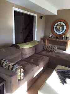 Sectional sofa/light brown