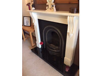 Victorian cast iron fire insert and surround