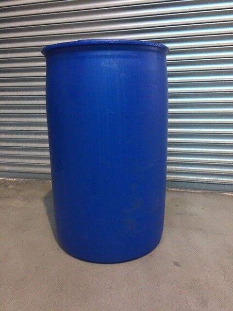 Plastic Drum-barrel-allotment-water butt 200 LITRE Large FULLY CLEANED INSIDE