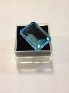 Emerald Cut Topaz - Natural Gemstone - Blue - 27.70ct Sydney City Inner Sydney Preview