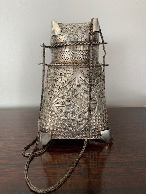 Burmese Silver incense containers