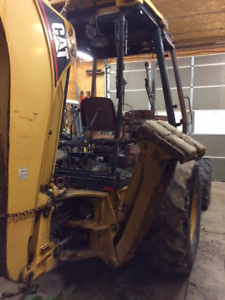 Cat  416C backhoe for salvage(burnt)