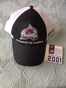 new 2001 STANLEY CUP COLORADO AVALANCHE BALL CAP / HAT