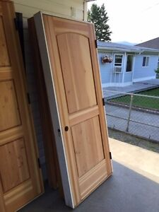 Unfinished Knotty Fir Pre-hung Interior Door