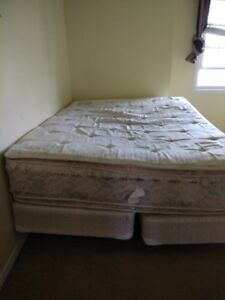 Moving sale - Queen bed with frame,mattress