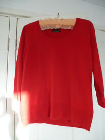 100% Cashmere sweater Red Size 16