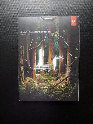 Adobe Photoshop Lightroom 5 Boxed CD Windows/PC/MAC Full UK Retail 65215175 NEW