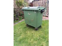 Wheelie Bin - large size suitable for storing logs etc