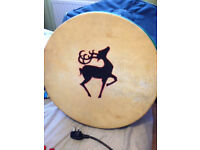 A large bodhran hand drum