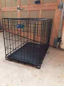 Top Paw folding double door crate, Medium size