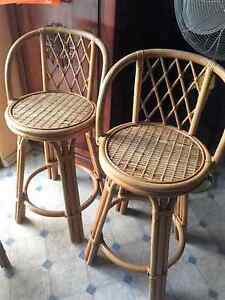 Pair of Vintage Swivel Seat Cane Bar Stools Taree Greater Taree Area Preview