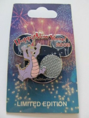 Happy New Year 2009 Figment LE Disney Pin
