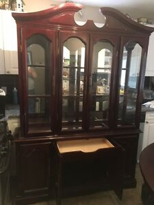 Cherry two piece China Cabinet