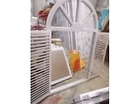 LARGE SHABBY-CHIC DOOR SHUTTERED MIRROR..CAN DELIVER LOCAL TO STEVENAGE