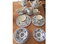 Indies Blue China by Johnson Brothers. Almost 100 pieces of china!!