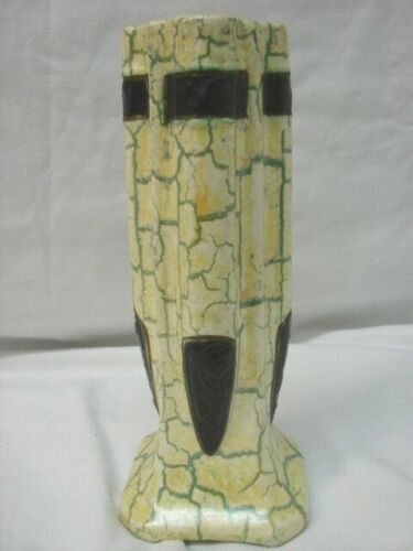 "UNIQUE EARLY VINTAGE Czechoslovakia MULTI COLOR 10"" VASE"