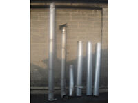 OIL BOILER VARIOUS FLUE SECTIONS ALUMINIUM TWIN WALL