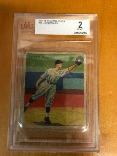 1934 Diamond Stars Lloyd Waner Card #16 Pittsburgh Pirates BVG 2