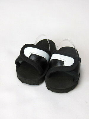 Black And White Slide Sandals Shoes Fits 18