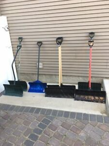 snow shovels used