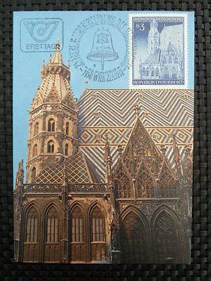 AUSTRIA MK 1977 STEPHANSDOM WIEN MAXIMUMKARTE CARTE MAXIMUM CARD MC CM a8550