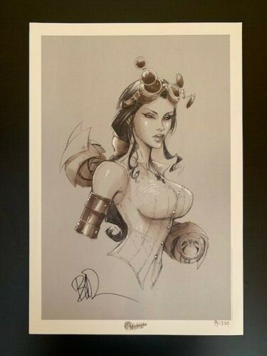 Limited Edition Lady Mechanika Signed Print #94/250 Joe Benitez 13x19