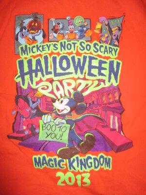 2013 Walt Disney MICKEY MOUSE's Not So Scary HALLOWEEN Party (XL) T-Shirt - Mickey Mouse's Halloween