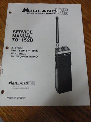 Midland Lmr Portable Radio 70-152 Vhf 150-174 Service Manual 70-152000 409