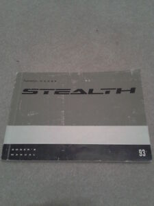 Dodge Stealth Owners manual