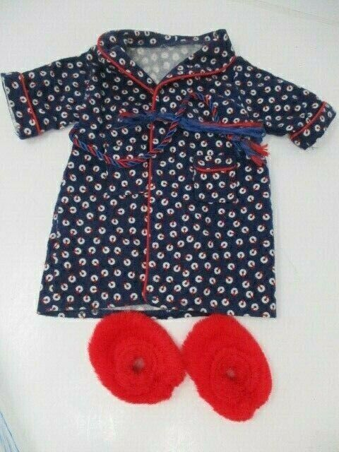 American Girl Doll by Pleasant Company MOLLY Outfit ~ Nautical Robe & Slippers