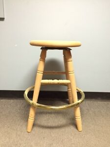 "24"" Wooden Swivel Bar Stool - Factory Overstock Sale"