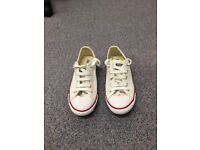 Converse White Chuck Taylor 'ALL STAR LEAN OX' Leather Shoes Sz 5 (38)