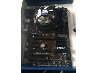 Intel I5 6600K, MSI B159 PC Mate, 8GB (2x4GB) Corsair Vengeance DDR4, Alpine 11 Pro CPU Fan
