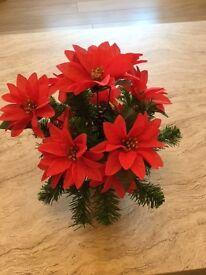 Christmas flower memorial arrangement
