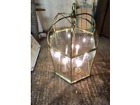 Large Brass Hanging Lamp