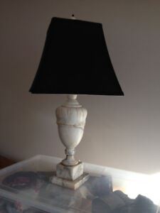 Antique Marble Lamp and new shade
