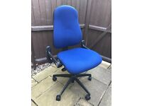 Three lever wheeled office chair only 1 year old, used in home office. Condition as new.