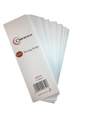 "Omwah Professional Waxing Non Woven Epilating Strips 100 Count Large 3"" x 9"""