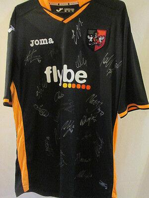 Exeter City 2014-2015 Squad Signed Away Football Shirt with COA /34930 image