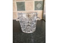 Lead crystal ice bucket. Perfect condition