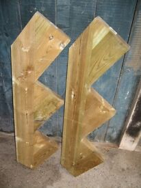 Pair of Decking Tread Risers - Never been used