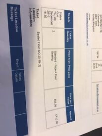 2 x Status Quo Tickets - Thursday 8th December - 18.30 - Nottingham Arena