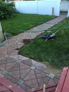 """Paving Stones - $10 per 16"""" by 16"""" area;"""
